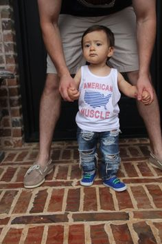4th of July Outfit, American Muscle Tank, Kid's 4th of July Outfit