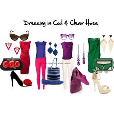 """""""Dressing In The Cool & Clear Palette"""" by firstimpress on Polyvore"""