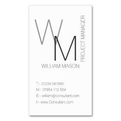 Plain And Simple White Professional Business Card