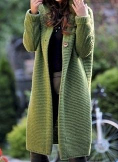 Nadire Atas on Insane Winter Outfits You Will Love Casual Knitted Long Sleeve Solid Hoodie Coat Green Fashion, Autumn Fashion, Fall Outfits, Fashion Outfits, Womens Fashion, Latest Fashion, Fashion Trends, Cute Casual Outfits, Short Outfits