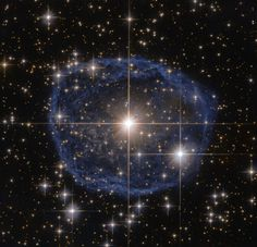 A Wolf–Rayet star, known as WR 31a, located about 30 000 light-years away in the constellation of Carina (The Keel), Feb. 22, 2016.