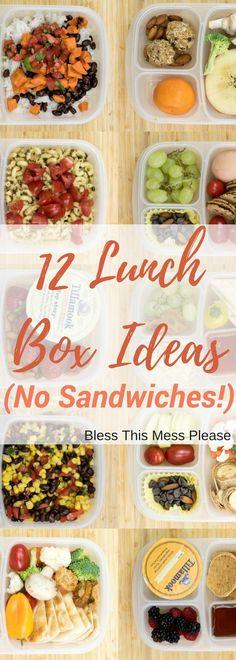 Non sandwich lunchbox ideas #easylunchboxes #lunch #lunchboxideas