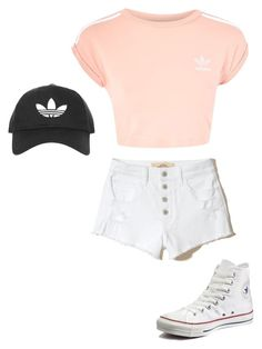 """""""adidas style """" by leahviola on Polyvore featuring Topshop, Hollister Co., adidas and Converse"""