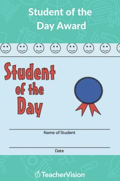 Give an award for a special student -- every day! This printable is customizable. Tailor the PDF to your needs by typing in the highlighted fields before printing. Certificate Design, Certificate Templates, Student Rewards, Students Day, Thank You Card Template, Award Certificates, Behavior Management, 5th Grades, Awards