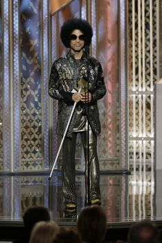 Just now watching the #GoldenGlobes - Nice to see Prince taking some time away from managing his Chocolate Factory to attend the event.
