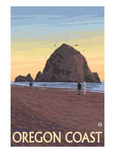 Haystack Rock, Cannon Beach, Oregon Poster at AllPosters.com