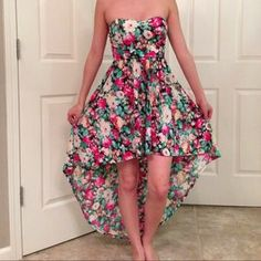I just discovered this while shopping on Poshmark: Floral High Low Dress. Check it out!  Size: S
