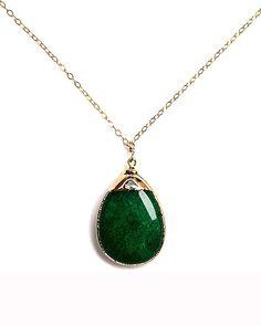 Green Jade Amsu Necklace - JewelMint