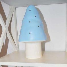 Flugsvampslampa Heico ljusblå