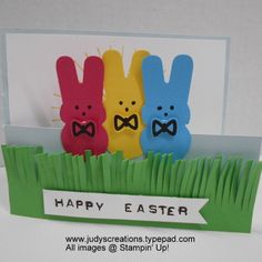 SUO Stampin' Up! Peeps from Cookie Cutter Punch by Judy Strickling