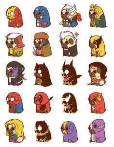 So I heard you guys like pugs and superheroes... - Imgur | @jasonwynn97