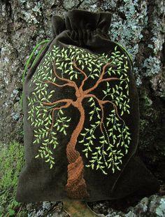 Sacred Tree  tarot bag by medievalmuse on Etsy