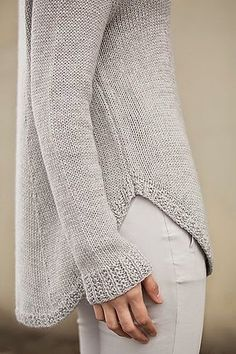 Whisper Grey Sweater With White Pent