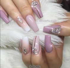 Need some nail design inspiration for your nails? browse these beautiful trendy nail designs that are hot right now! Fabulous Nails, Gorgeous Nails, Love Nails, Pretty Nails, My Nails, Glam Nails, Bling Nails, Beauty Nails, Purple Nails