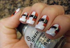 Christmas nails Santas coats!
