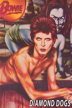 David Bowie Diamond Dogs Album Cover Poster 24x36 – BananaRoad