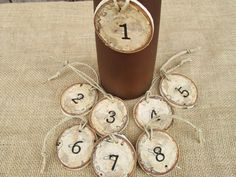 Rustic Numbers Wedding Numbers Table by DivineRusticCreation, $18.00
