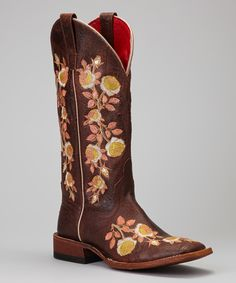 Love this Macie Bean Chocolate Rosa Lee Square-Toe Boot by Macie Bean on #zulily! #zulilyfinds