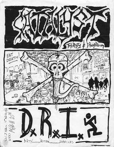 DRI punk hardcore flyer