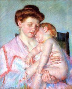 Sleepy Baby - Mary Cassatt, 1910