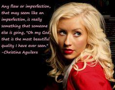 Christina Aguilera quote #beautiful