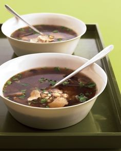 Have a pot of soup ready in just a half hour with quick-cooking barley. Lemon juice, parsley, and Parmesan wake up the mushrooms.