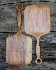 Chef's Board with a hanging ring! These elegant boards are perfect for use as a serving tray, small cutting board, small pizza peel or even as a giant spatula! 😉.