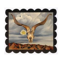 In 1976 #GeorgiaOKeeffe's Ram's Head, White Hollyhock—Hills juxtaposes the view from her New Mexico home Ghost Ranch, a flower from her garden, and one of many animal skulls she collected on her walks in the desert. ⇨ After moving permanently to the Southwest in 1948, O'Keeffe displayed animal bones and skulls in her two New Mexico homes, alongside her collections of weathered tree branches and riverbed stones. The bones also served as favorite props in many photographic portraits that were…