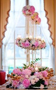 Dramatic Floral Centerpieces. So gorgeous!