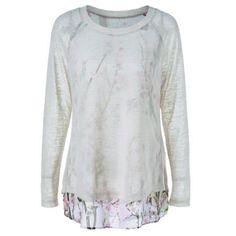 Back Slit Floral T-Shirt