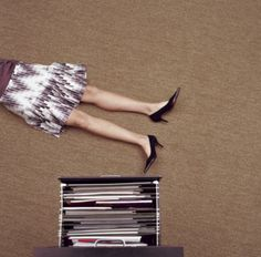 Sexy Dead Female Legs Heels Office Accident