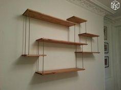 Étagères industrielles bois et métal