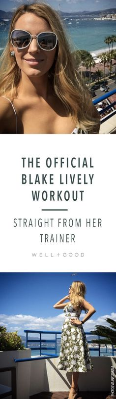 The official blake lively workout