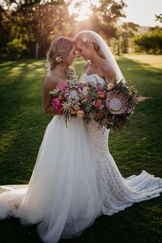 For the love of #protea this bouquet is everything #wedding