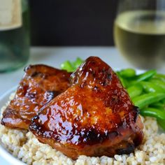 Preheat your oven for sweet and tangy Honey Balsamic Baked Chicken Thighs!