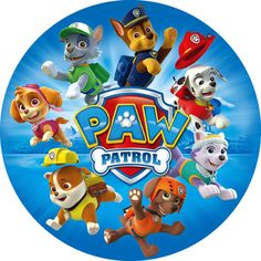 Projectables LED Plug-In Night Light (Paw Patrol), Multicolor Bolo Do Paw Patrol, Cumple Paw Patrol, Paw Patrol Cake, Paw Patrol Party, Paw Patrol Birthday Theme, Baby Birthday, Imprimibles Paw Patrol, Paw Patrol Stickers, Photo Bleu