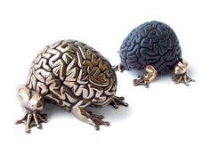 Bronze jumping brains by Emilio Garcia