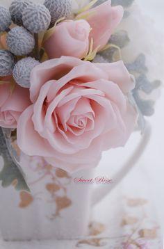 Bouquet Peony cloud Cold porcelain flowers Home от SweetRose68