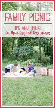 Tips and Tricks for more un and less stress when planning and holding a family picnic!!  Picnic Time with Bob Evans Restaurants #sponsored