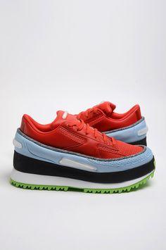 Raf Simons x Adidas Platform Red Sneakers