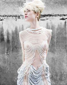 contemporary designer Anne Sofie Madsen presented her first full catwalk show last week during Copenhagen Fashion Week
