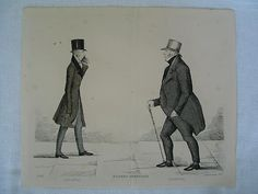 Modern Athenians, Prominent Edinburgh Gentlemen, 1847 Print |Sheet No 25, Lord Jeffrey and Lord Murray