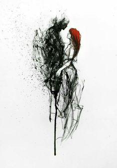 ❥ painting - abstract and figurative paintings ❥ art on metal ❥ art p Dark Fantasy Art, Fantasy Kunst, Arte Horror, Horror Art, Arte Dark Souls, Arte Indie, Arte Obscura, Dark Art Drawings, Demon Art