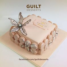 My client gave me a picture for reference, so this is not an original design though modified to fit the size of the cake that she wanted. Beautiful Cakes, Amazing Cakes, Big Cakes, Wedding Cakes With Cupcakes, No Cook Desserts, Specialty Cakes, Elegant Cakes, Cupcake Cookies, Cakes And More