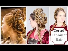 Cersei Lannister Purple Wedding Updo A game of thrones hair tutorial