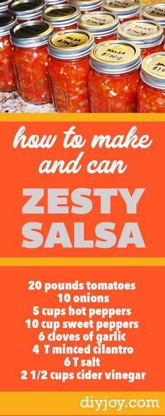 How to Make Salsa At Home - Spicy Salsa Recipe - How to Can Salsa and Preserve in Mason Jars