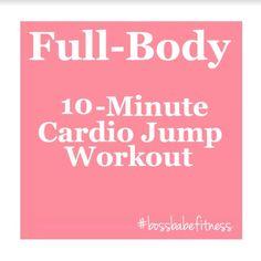 10-Minute Cardio Jump Workout To Burn Major Calories ---> https://www.youtube.com/watch?v=eqjZeX3F2nA&list=PLkQBCctMdS_Ui-lQuHp_vyYbaAScsPdVp&index=36