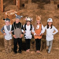 Christmas pageant animal costumes kids
