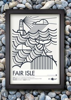 Shipping Forecast Print by Neil Stevens, via Behance