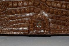 Vintage Handtaschen - Vintage  COMTSSE Leder Handtasche , braun, kroko - ein Designerstück von VitaMonella bei DaWanda